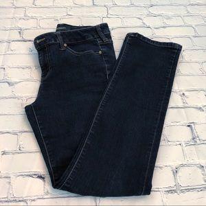Liverpool Jeans Sadie Straight Leg Dark Wash Sz 28